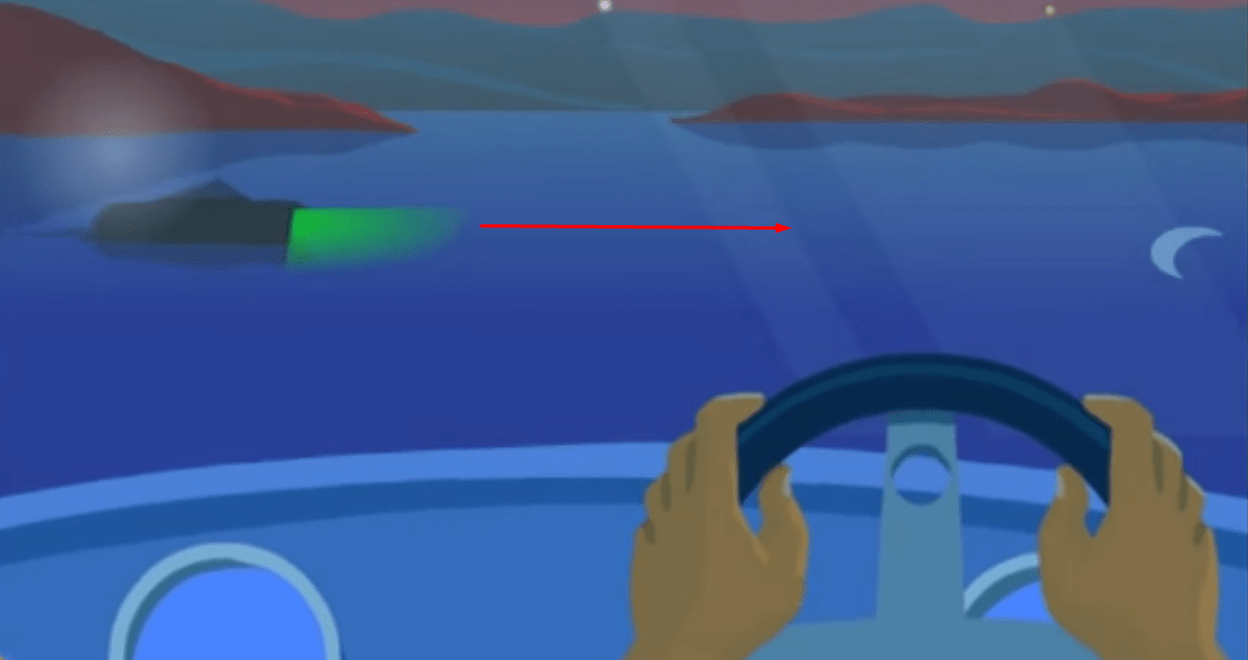 how to pass a boat at night