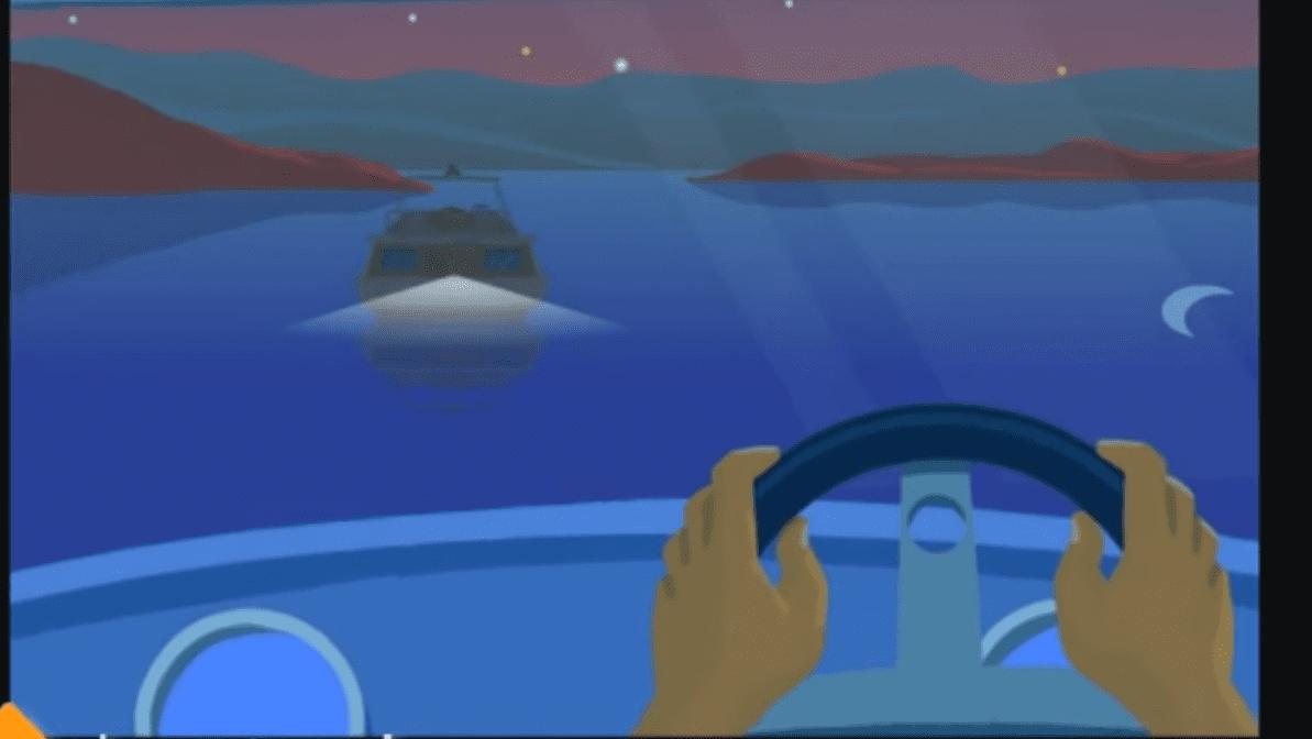 pass a boat at night