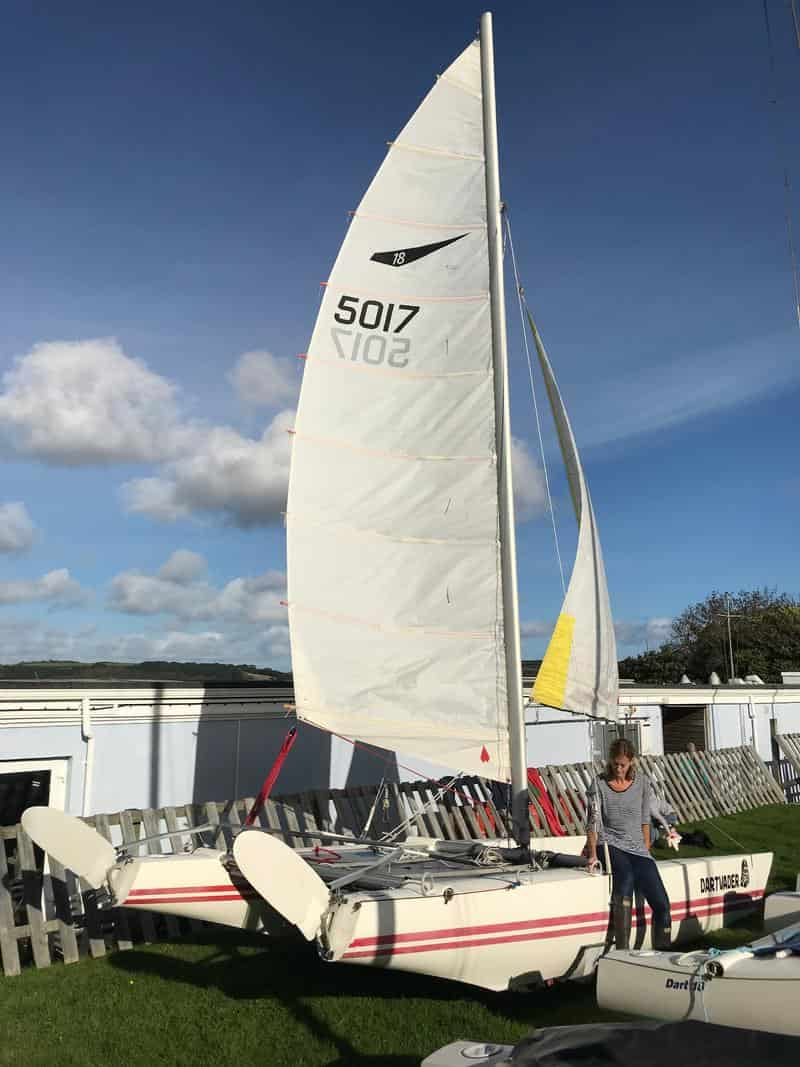 used sailing dinghy