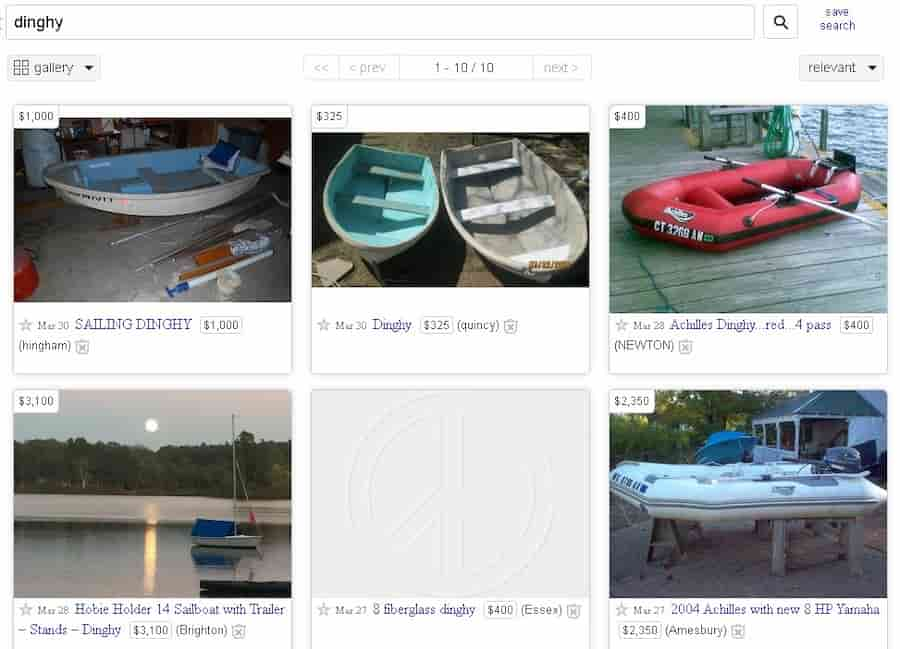sailing dinghies for sale on craigslist
