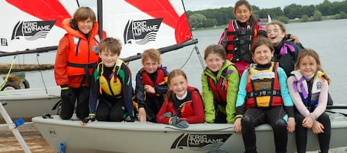 rs tera dinghy with children onboard