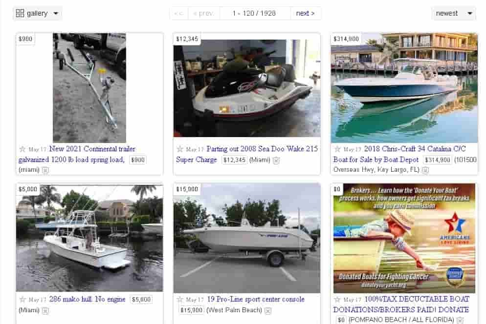 boats on craigslist