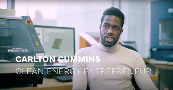 Two More Minutes with clean energy entrepreneur Carlton Cummins.