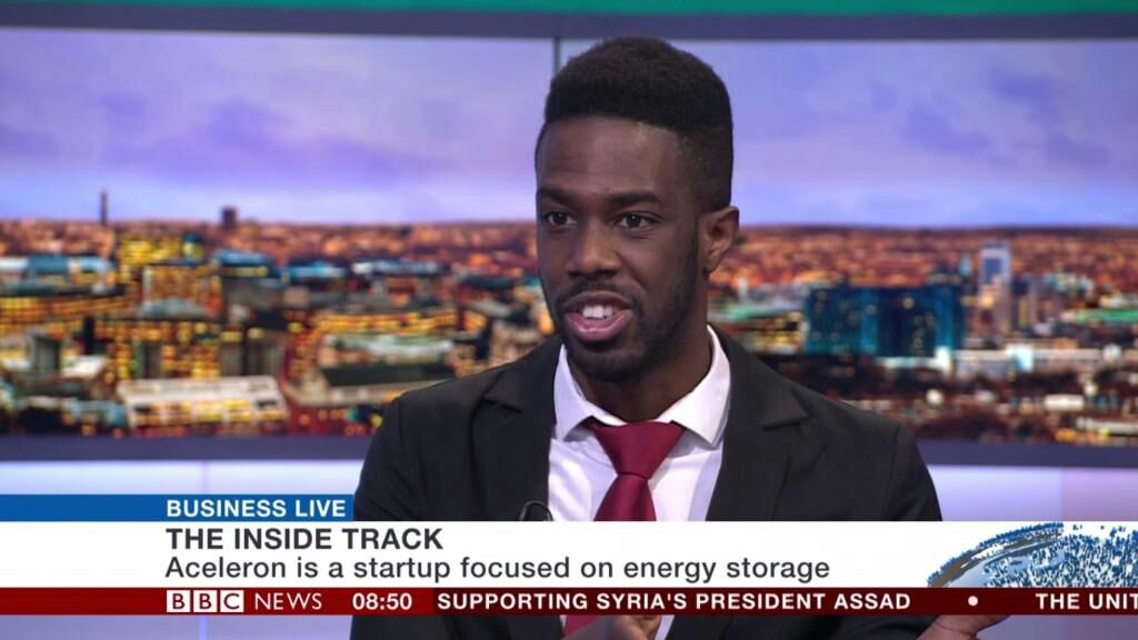 Aceleron on BBC News Business Live