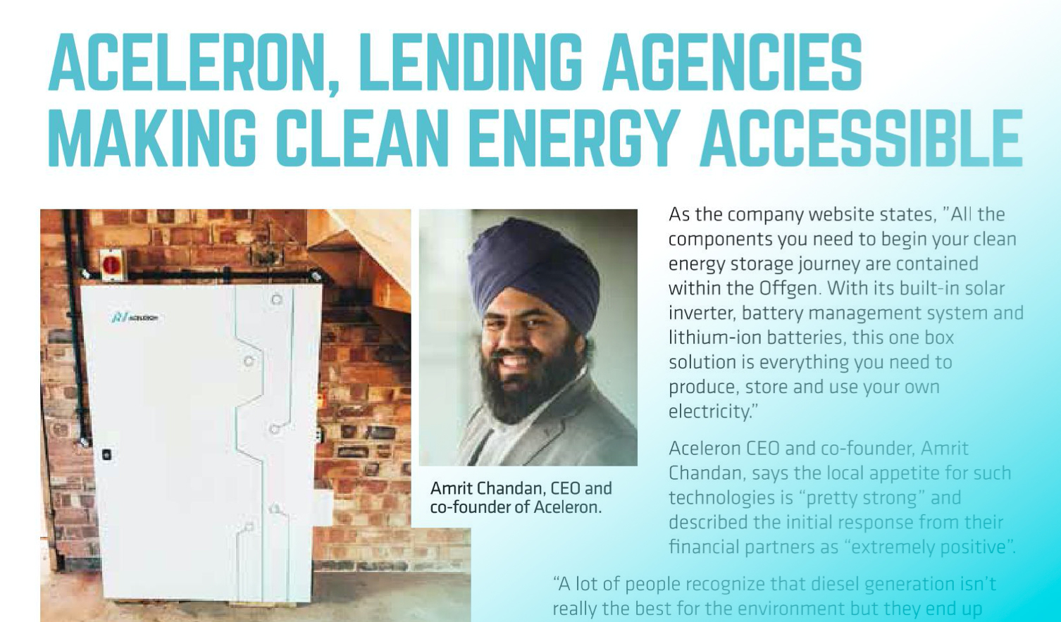Aceleron making clean energy accessible in the Caribbean