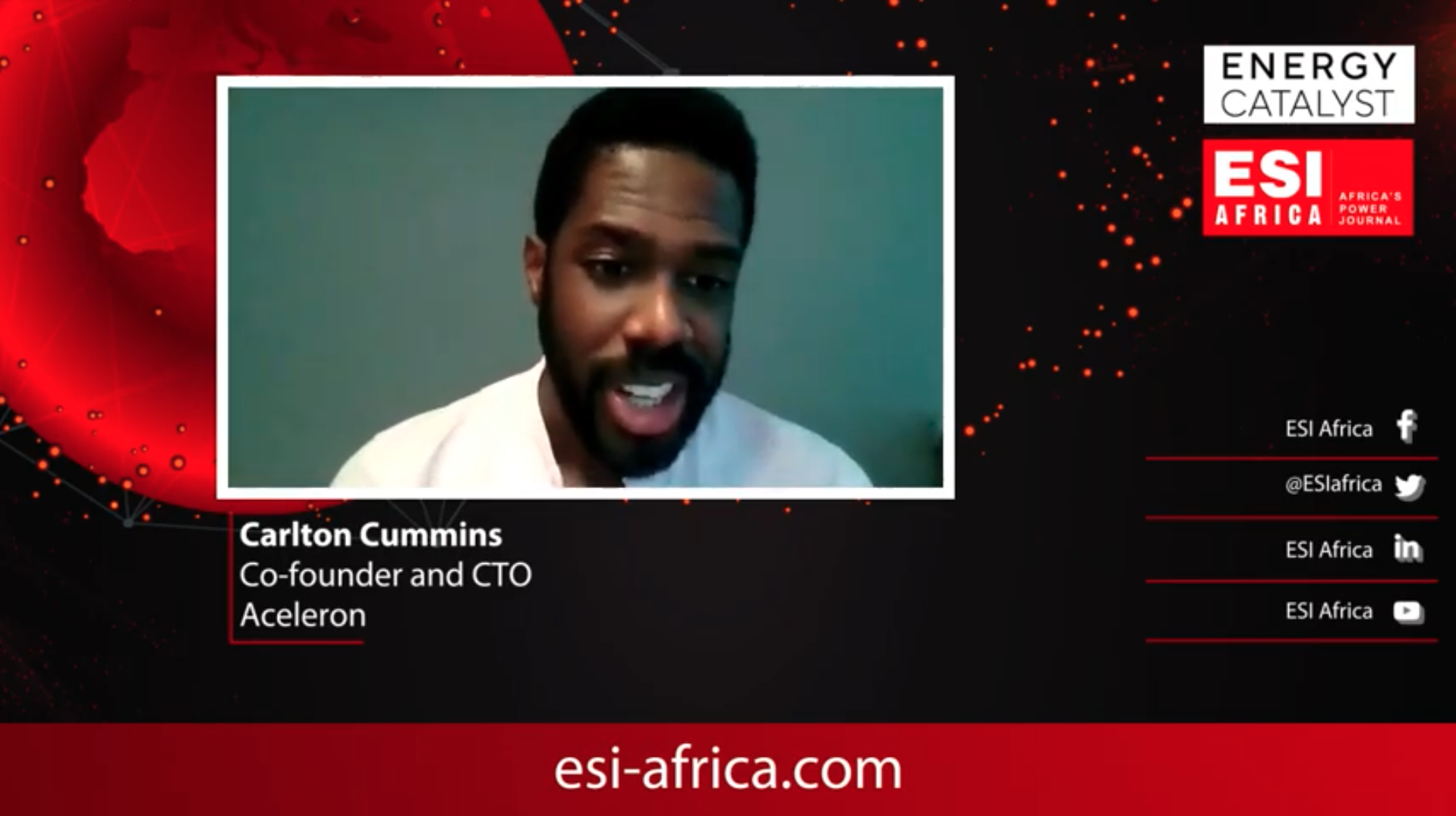 Carlton Cummins in an interview for ESI Africa