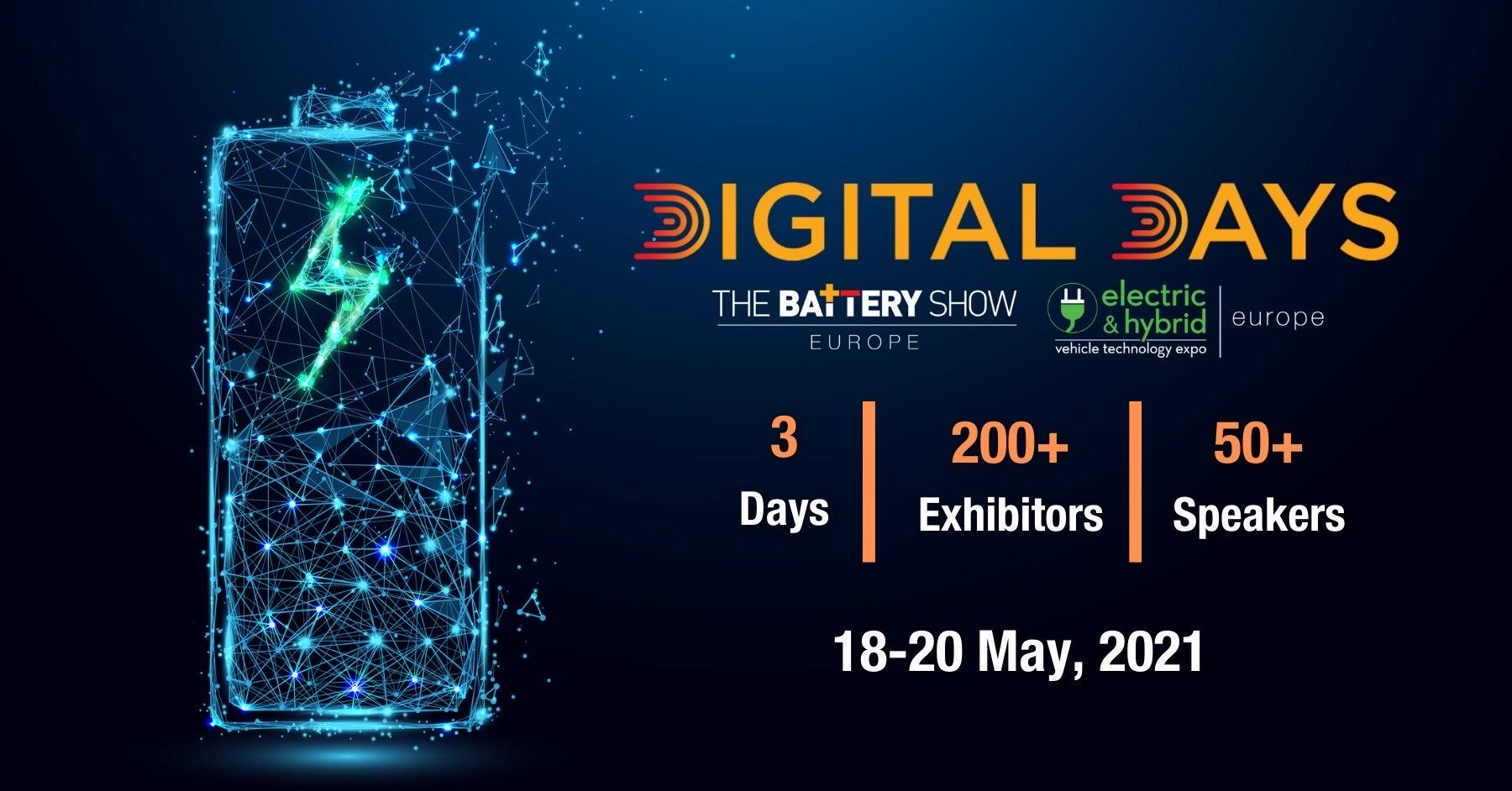EU Battery Show & EV Tech Europe Digital Days Virtual Event 2021