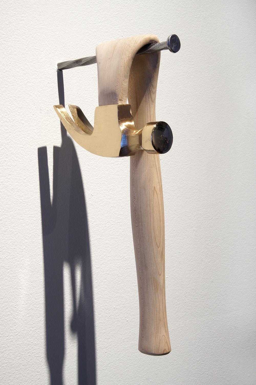 Michael M Simon, Hammer 1, Maple and Bronze, 12x5x6, 2018