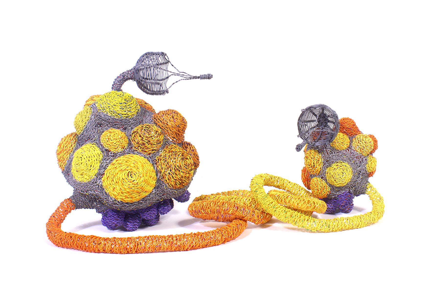 """Twyla Exner, Things 13 & 14 (Tethered), 13: 12""""x8""""x6"""" / 30x20x15cm 