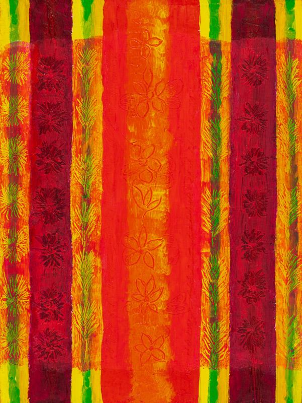 "Violet Rosengarten, Summer Veils of Colour 1, acrylic on canvas, 16""x 12"", 2020"