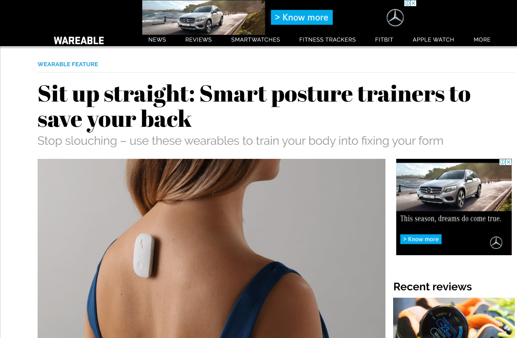 Press coverage in Wearable