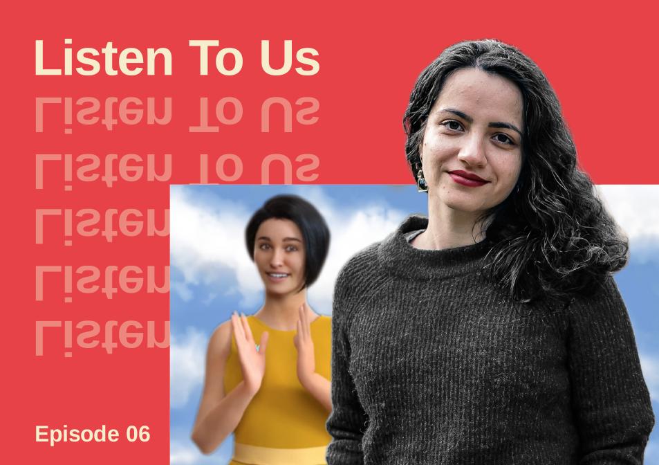 Listen To Us title image, featuring Sahar Izadi and Kara Technologies' avatar, Niki