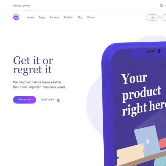 Landing page hero graphic