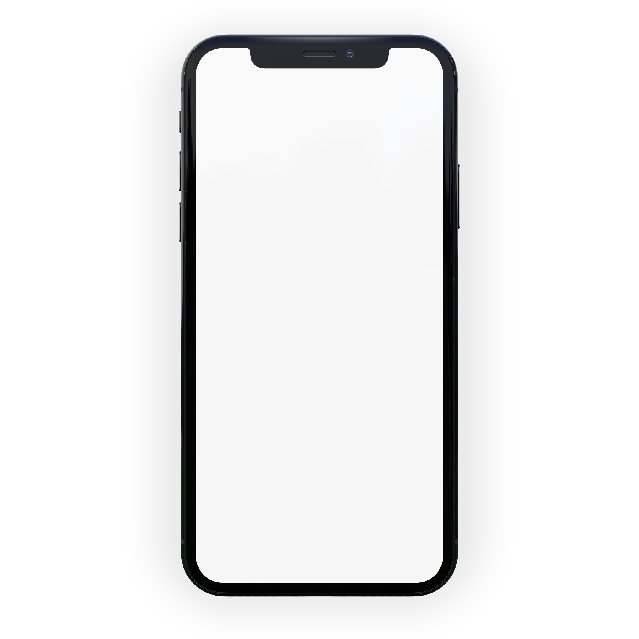 iphone x mockup seen from the front
