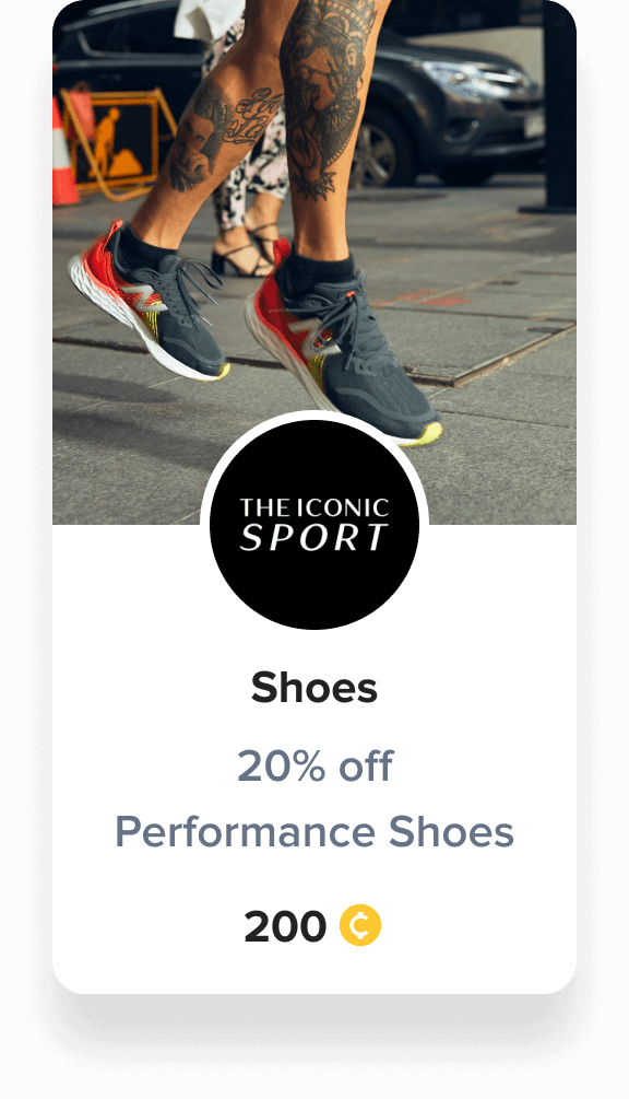 shoes performance reward voucher iconic sport