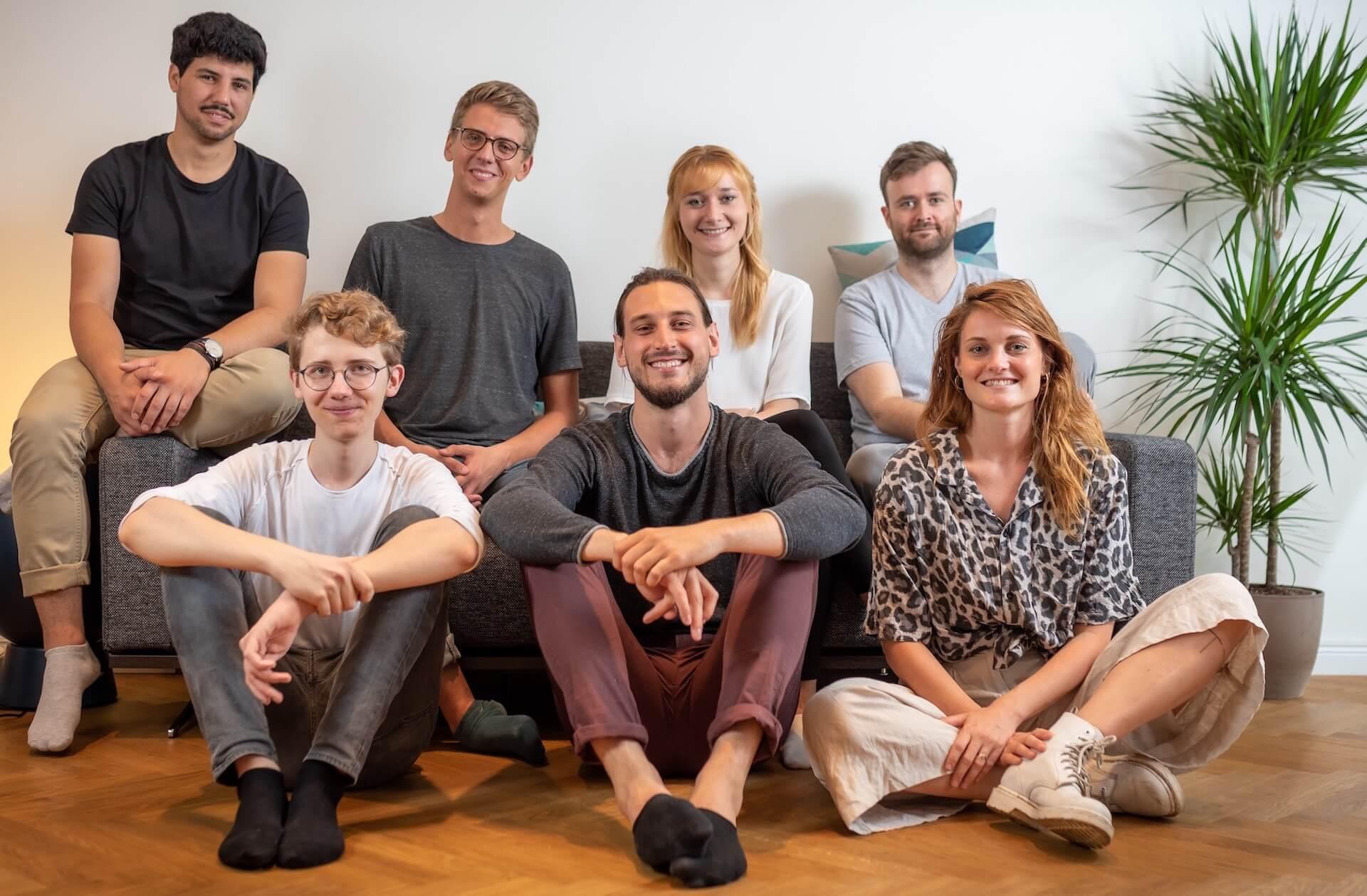 Teamfoto von Limebit im Büro