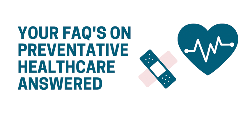 What is preventative healthcare? Written on white background.