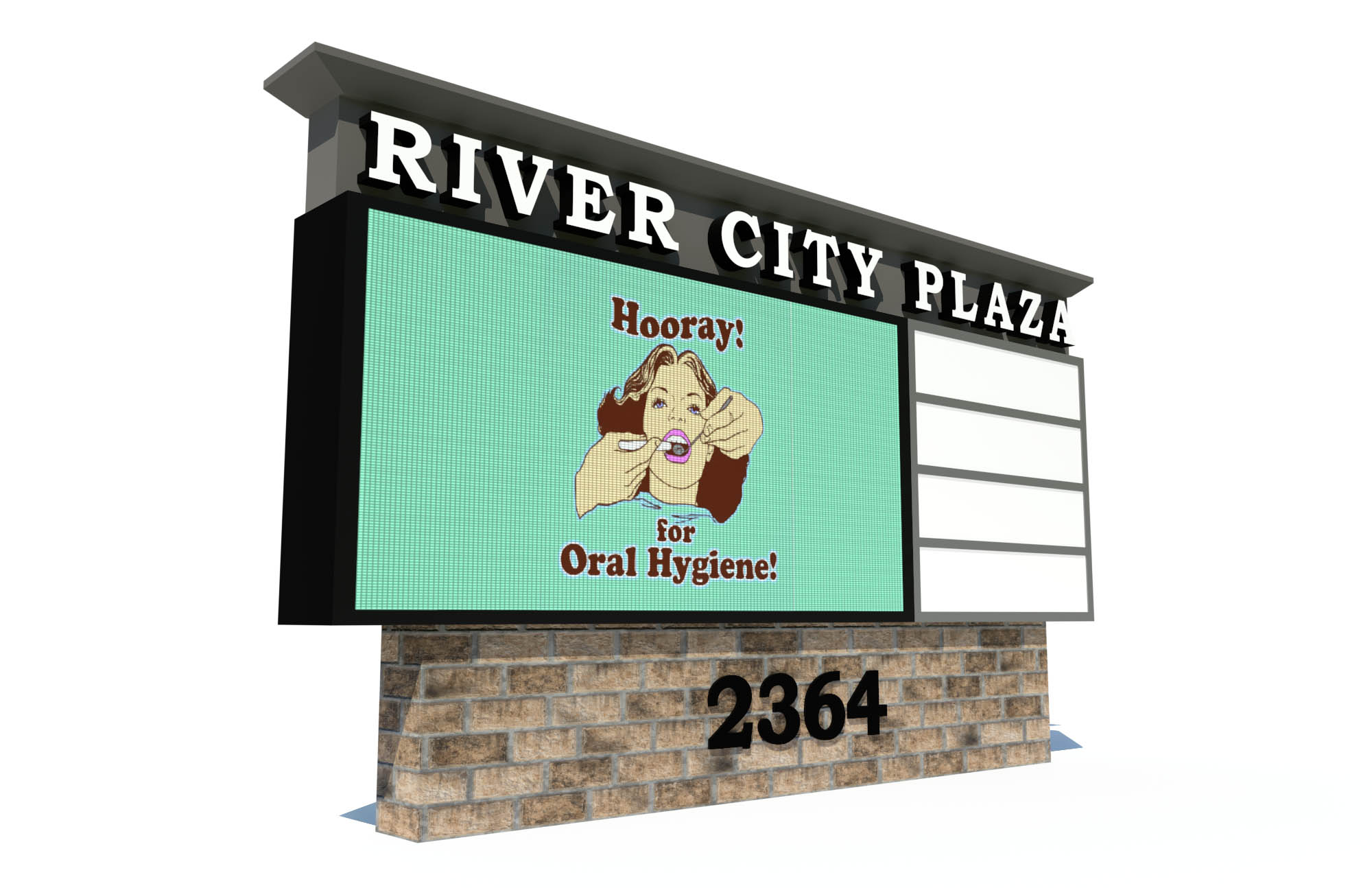 3D Render: River City Plaza