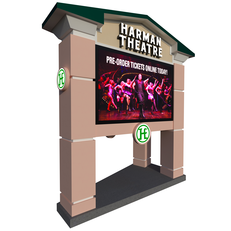 3D Render: Harman Theatre