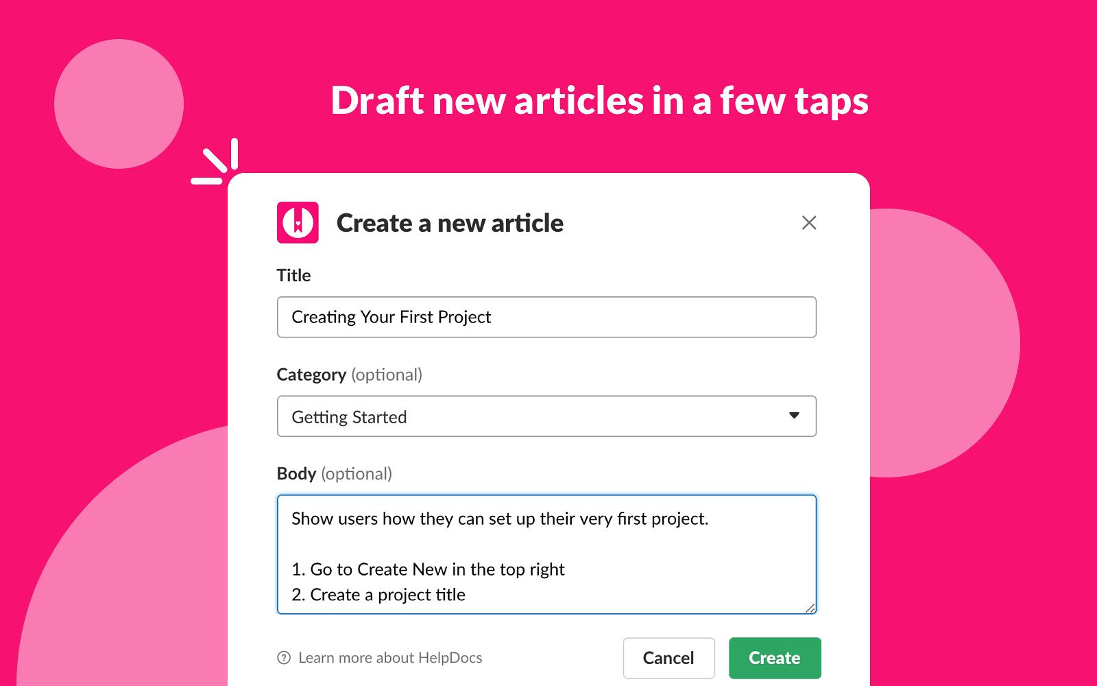 HelpDocs Slack integration