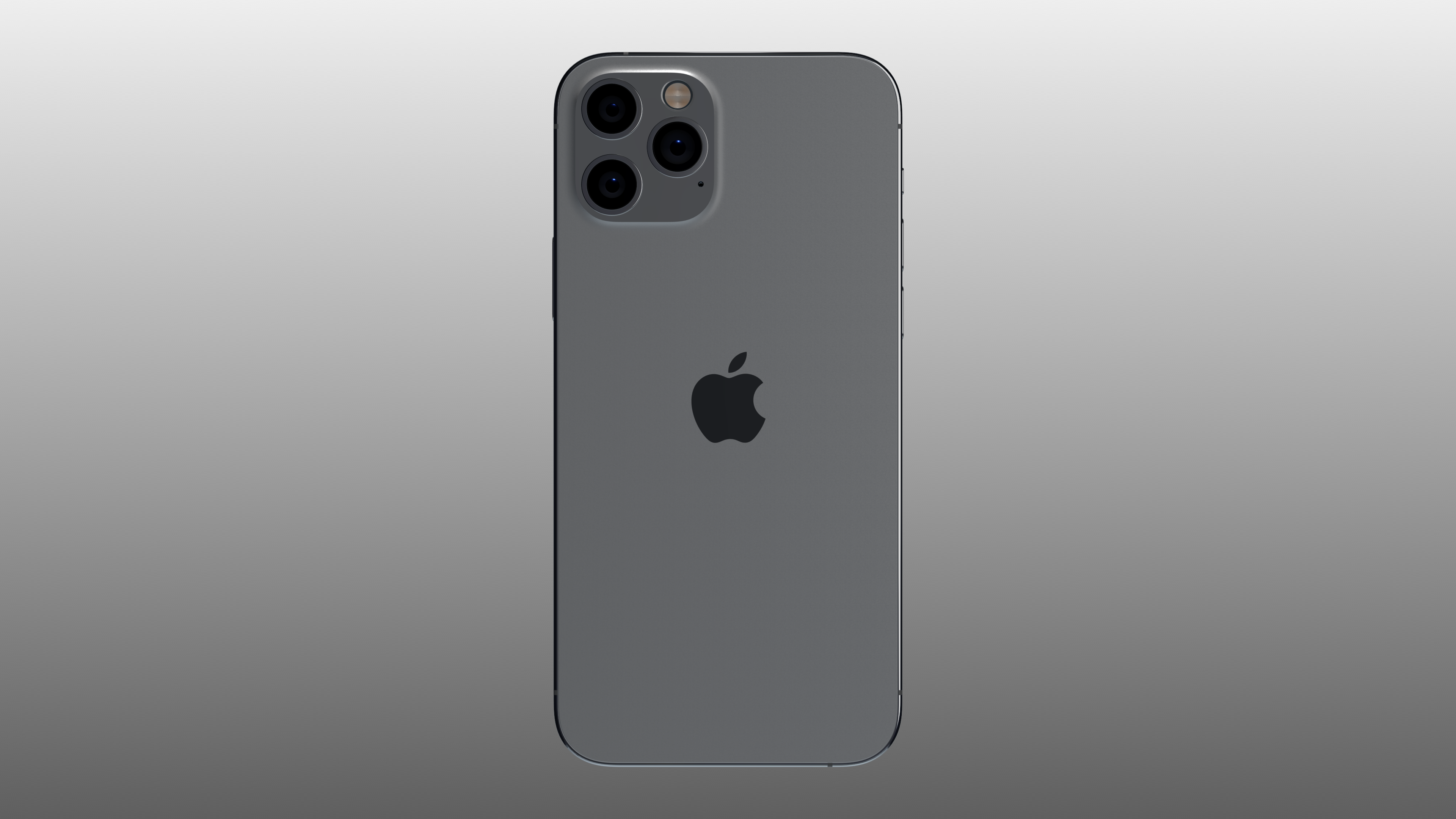 Back of iPhone 12 Pro mockup on a gradient background