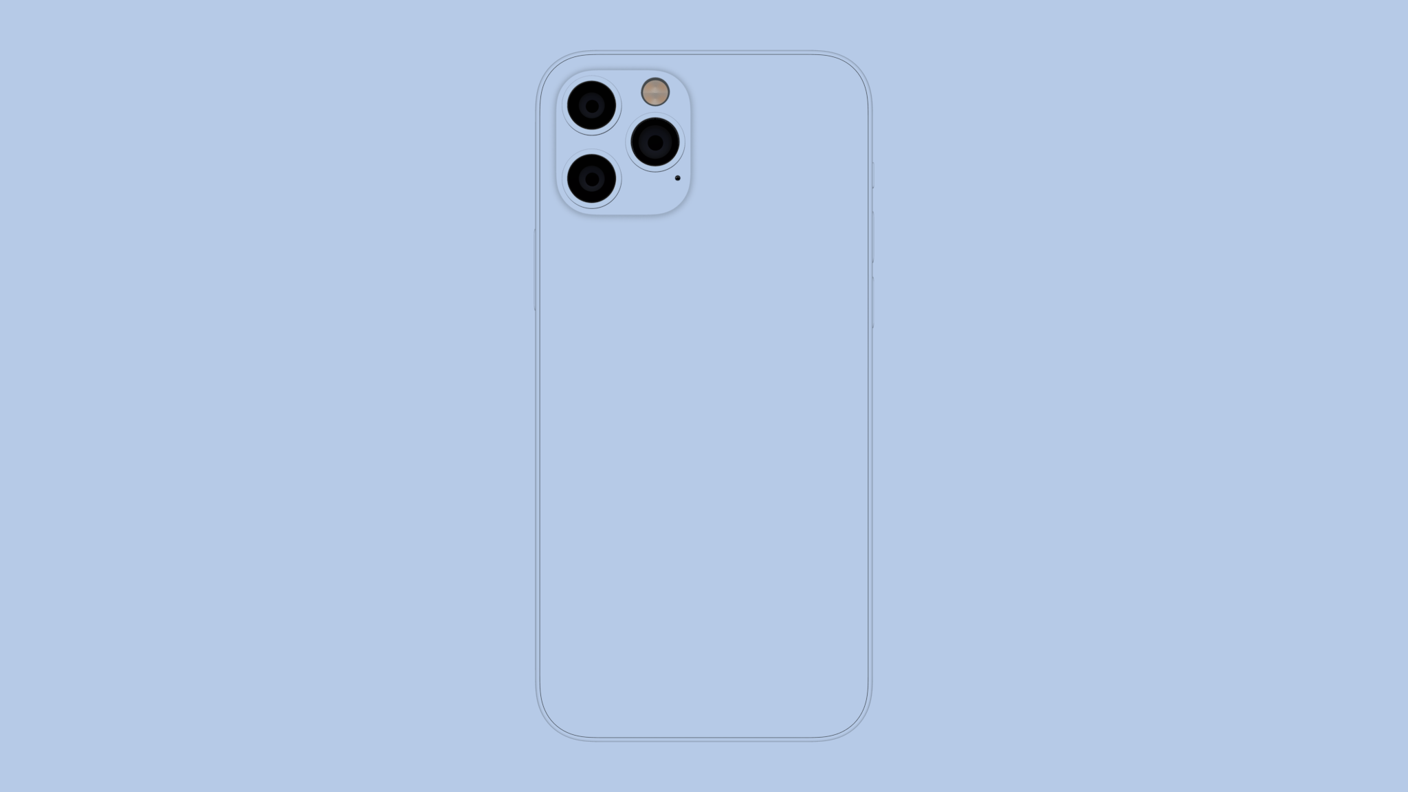 iPhone 12 Pro clay mockup from back