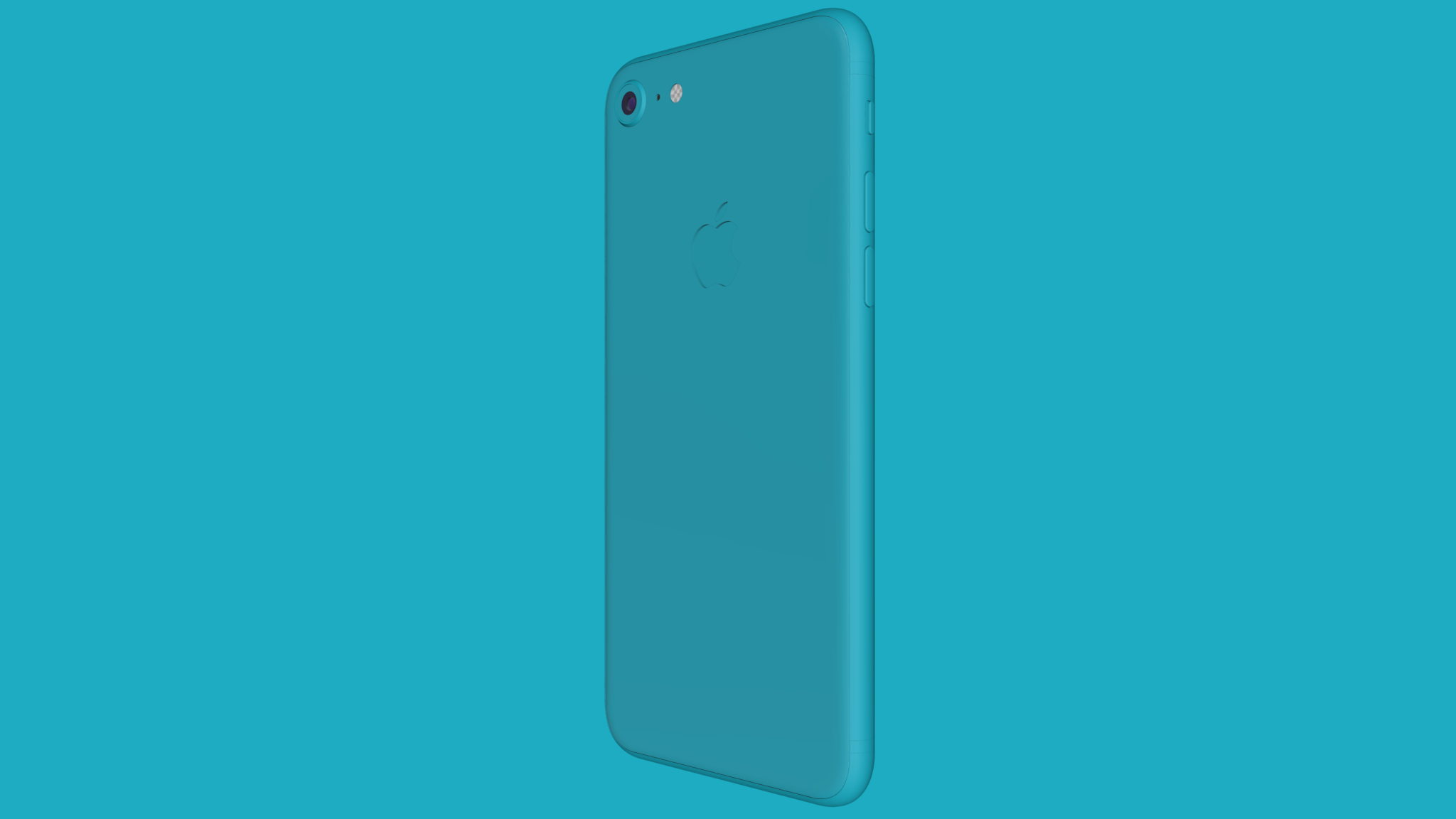 Back of colored iPhone 8 mockup on colored background