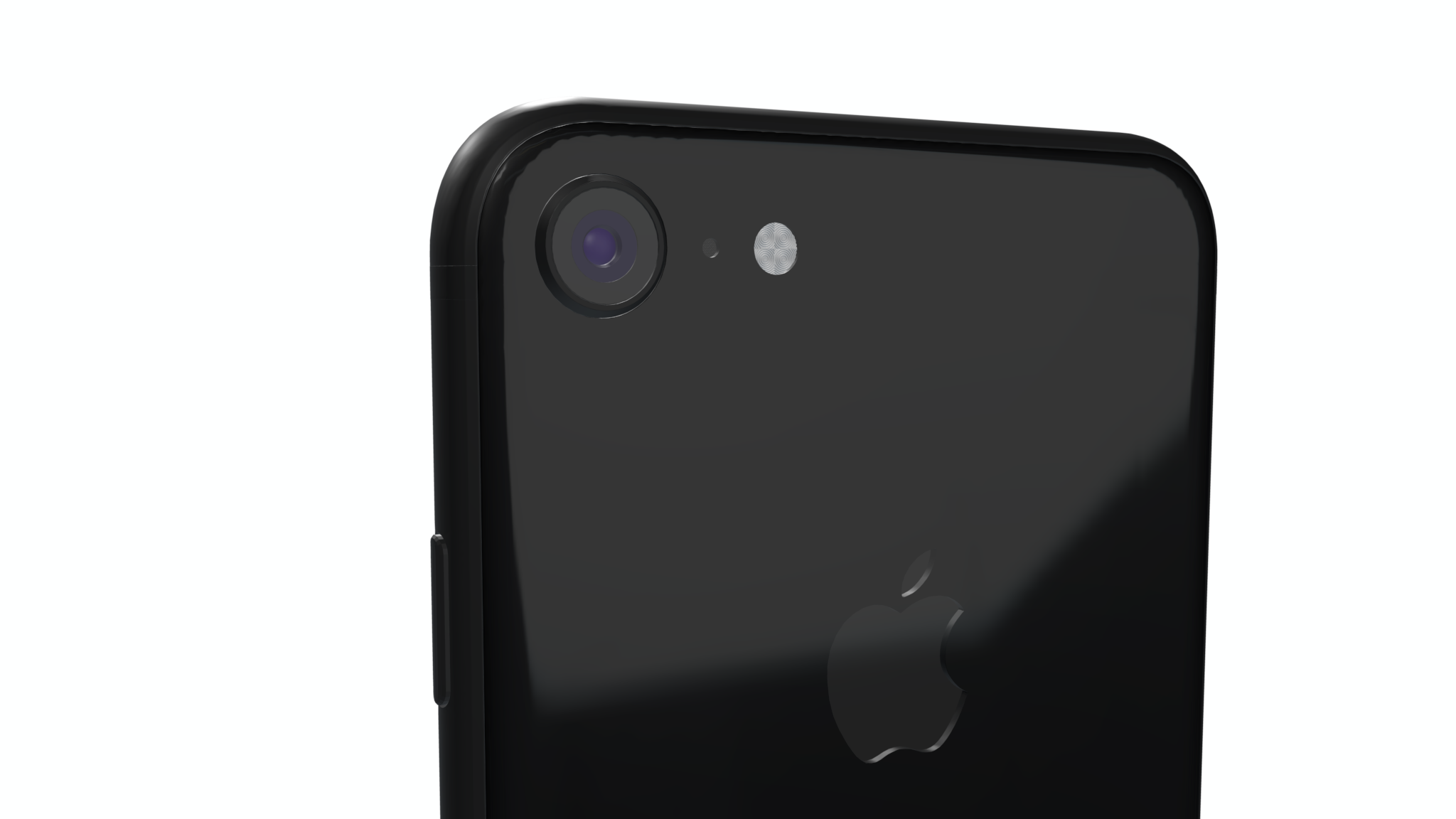iPhone 8 mockup from back with reflection