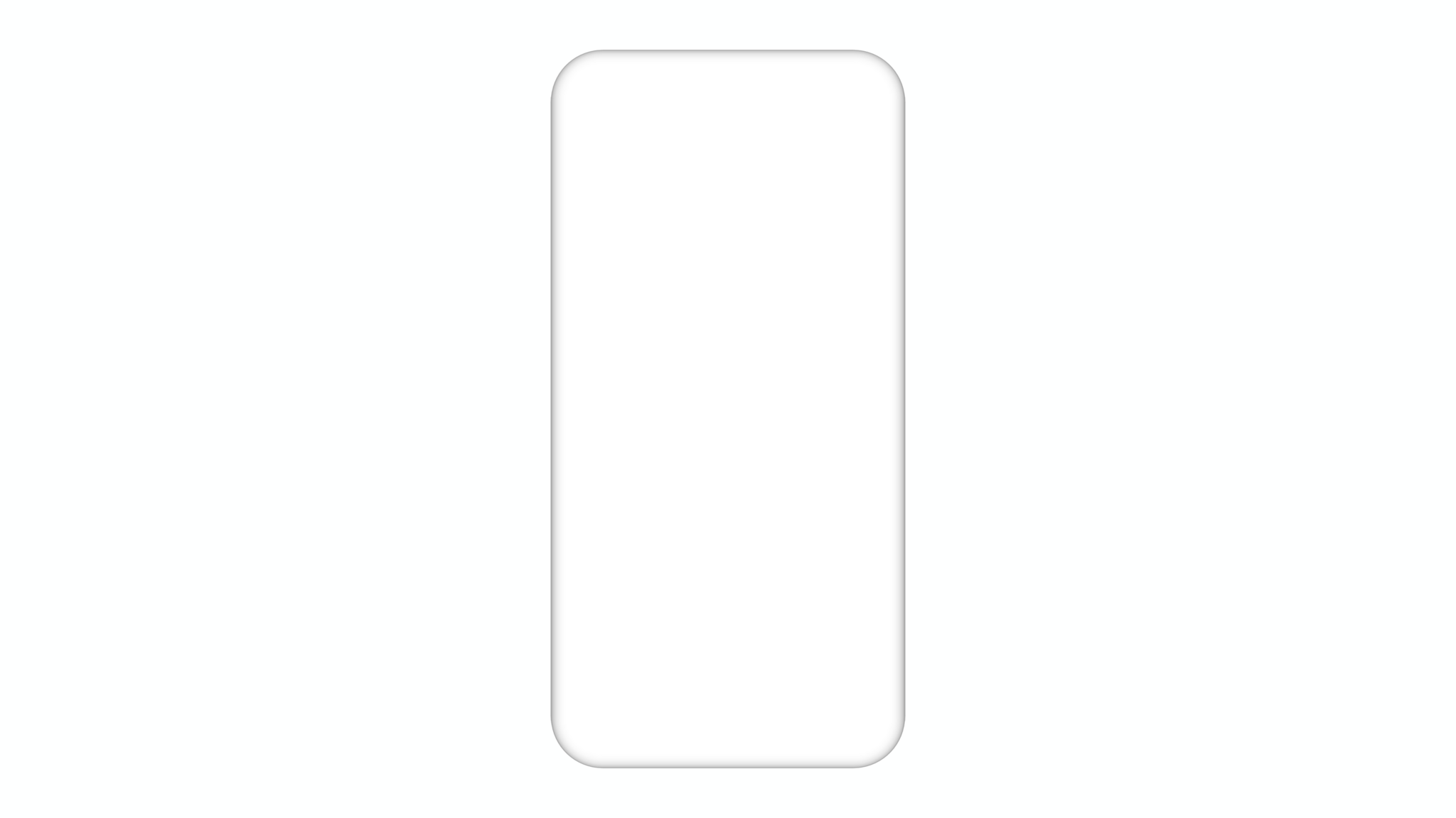 White clay phone mockup from behind