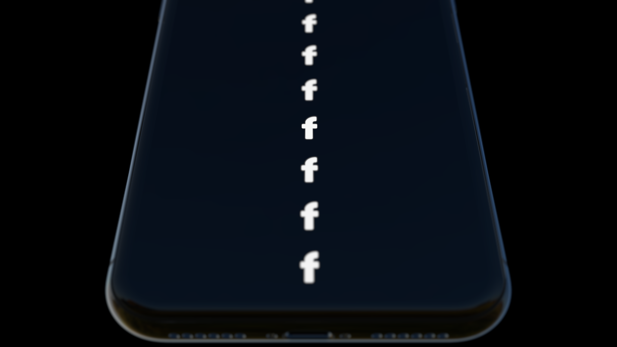 An iPhone mockup showing moderate depth of field