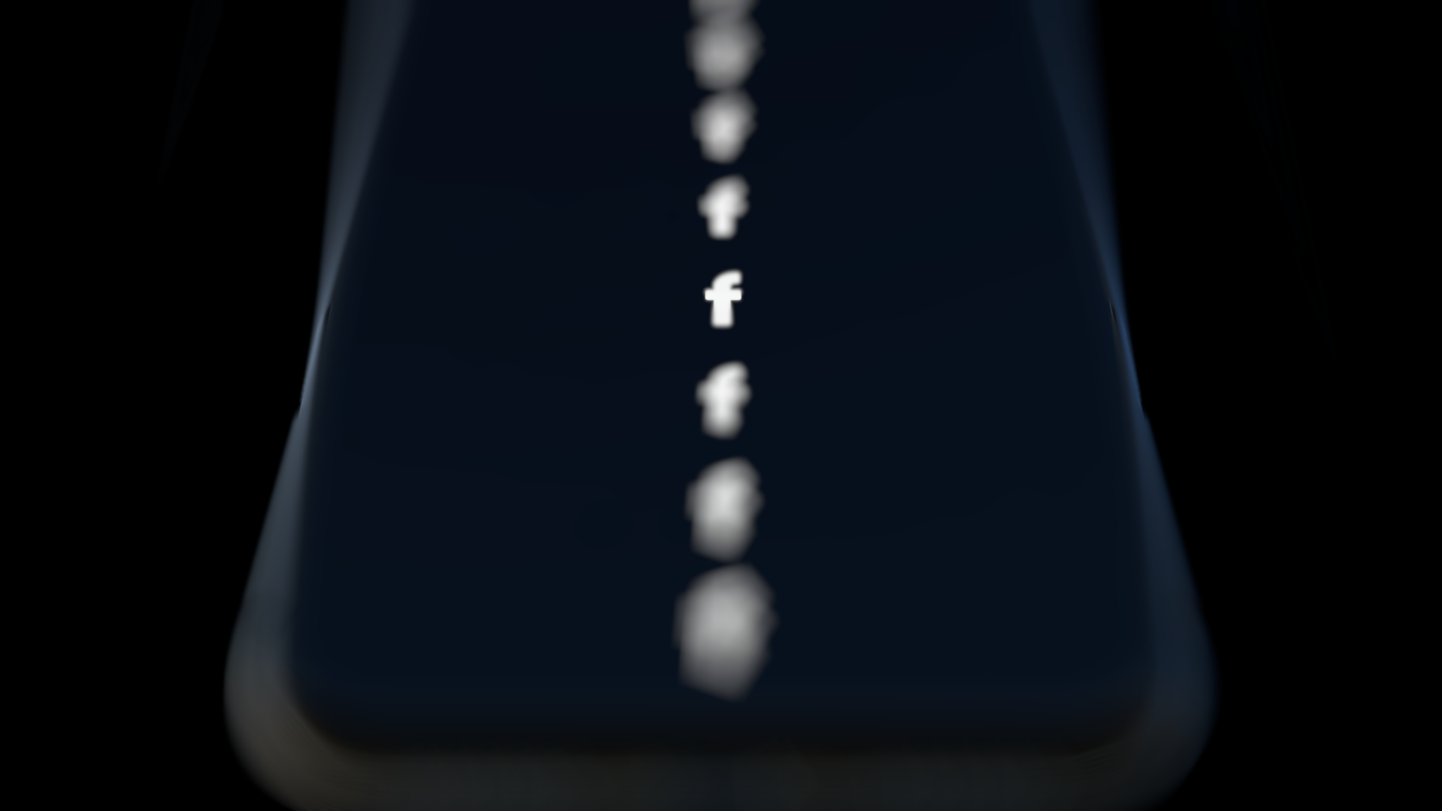 An iPhone mockup showing a high degree of depth of field