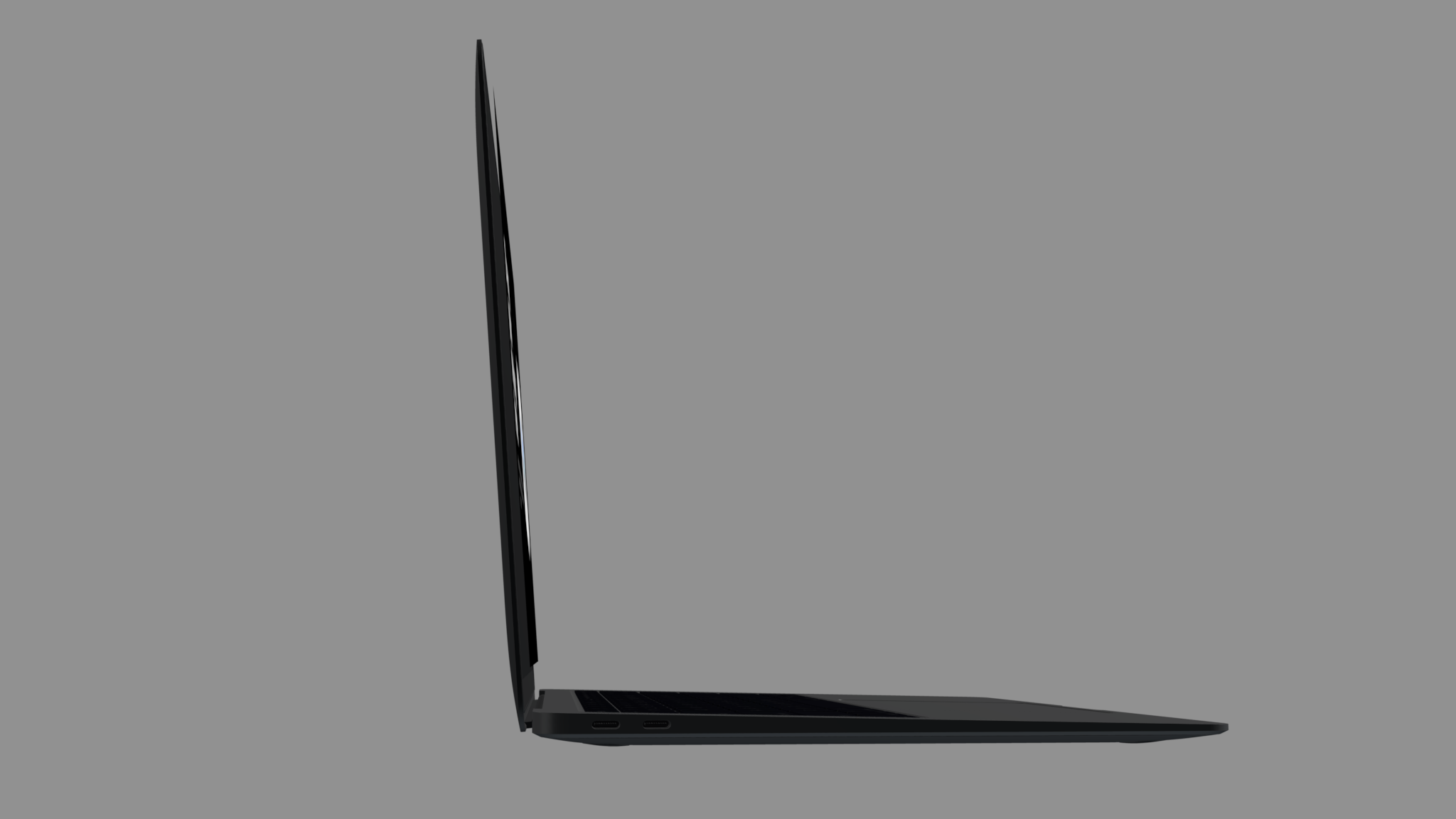 Macbook mockup from side