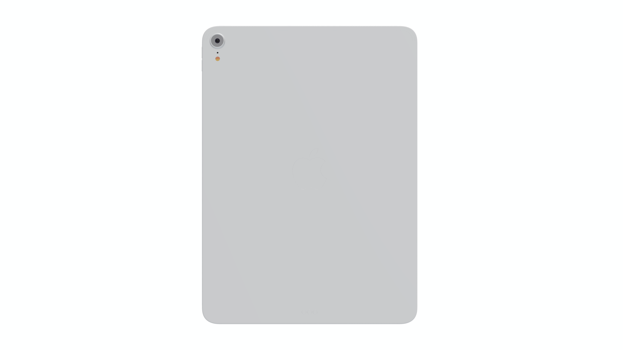 iPad mockup in white, back view