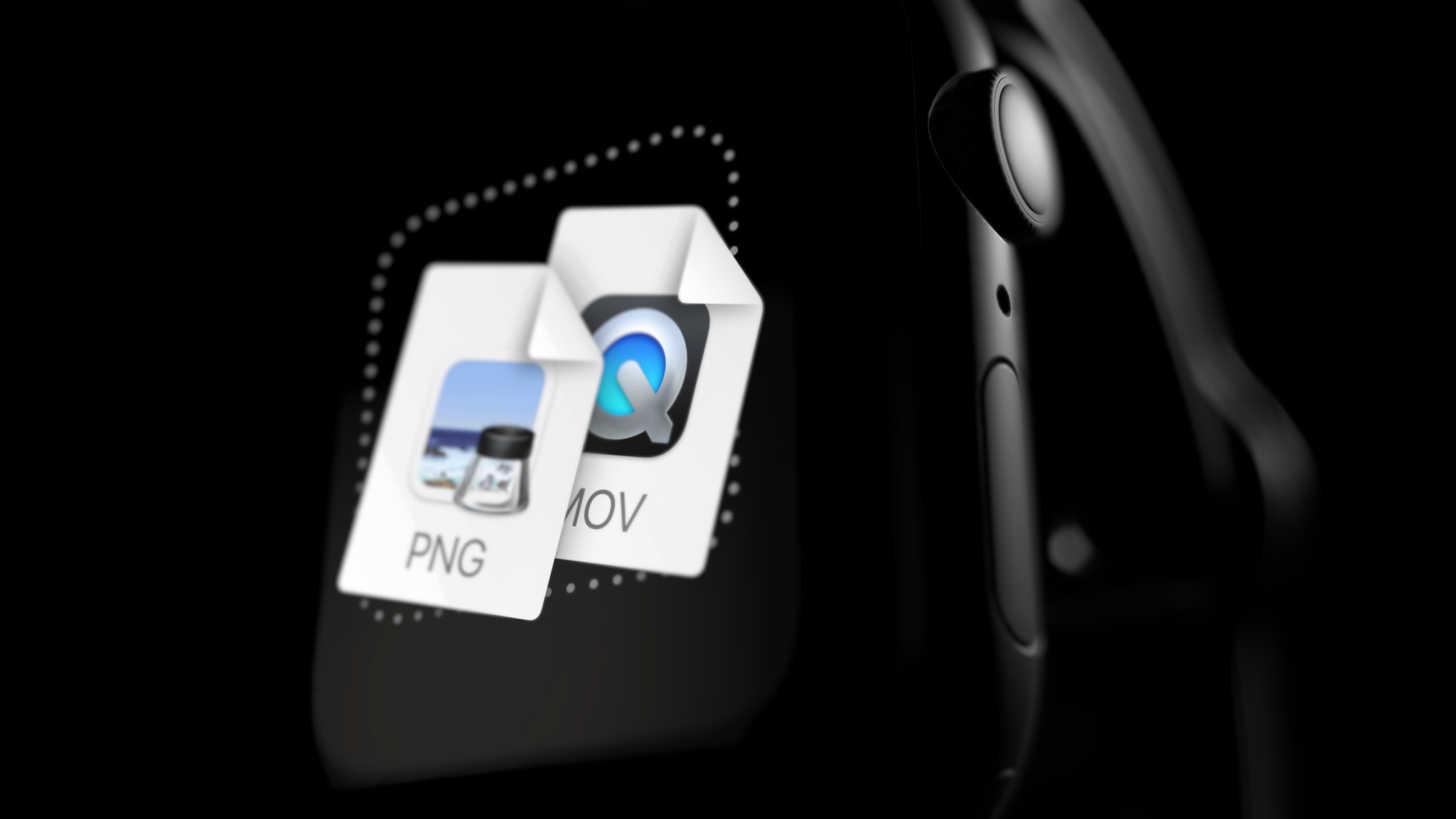 Apple watch mockup, hero position