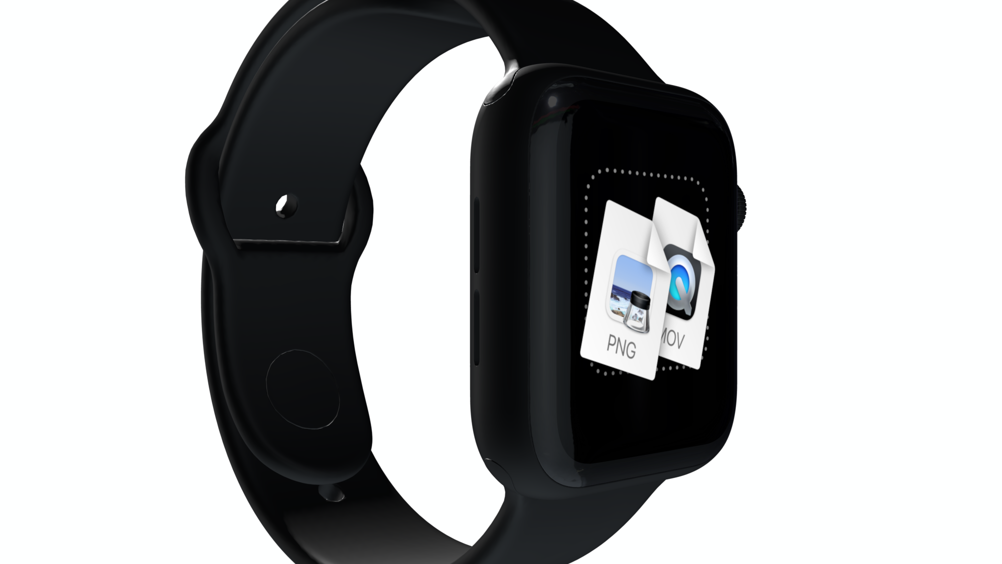 Apple Watch mockup rotated one third