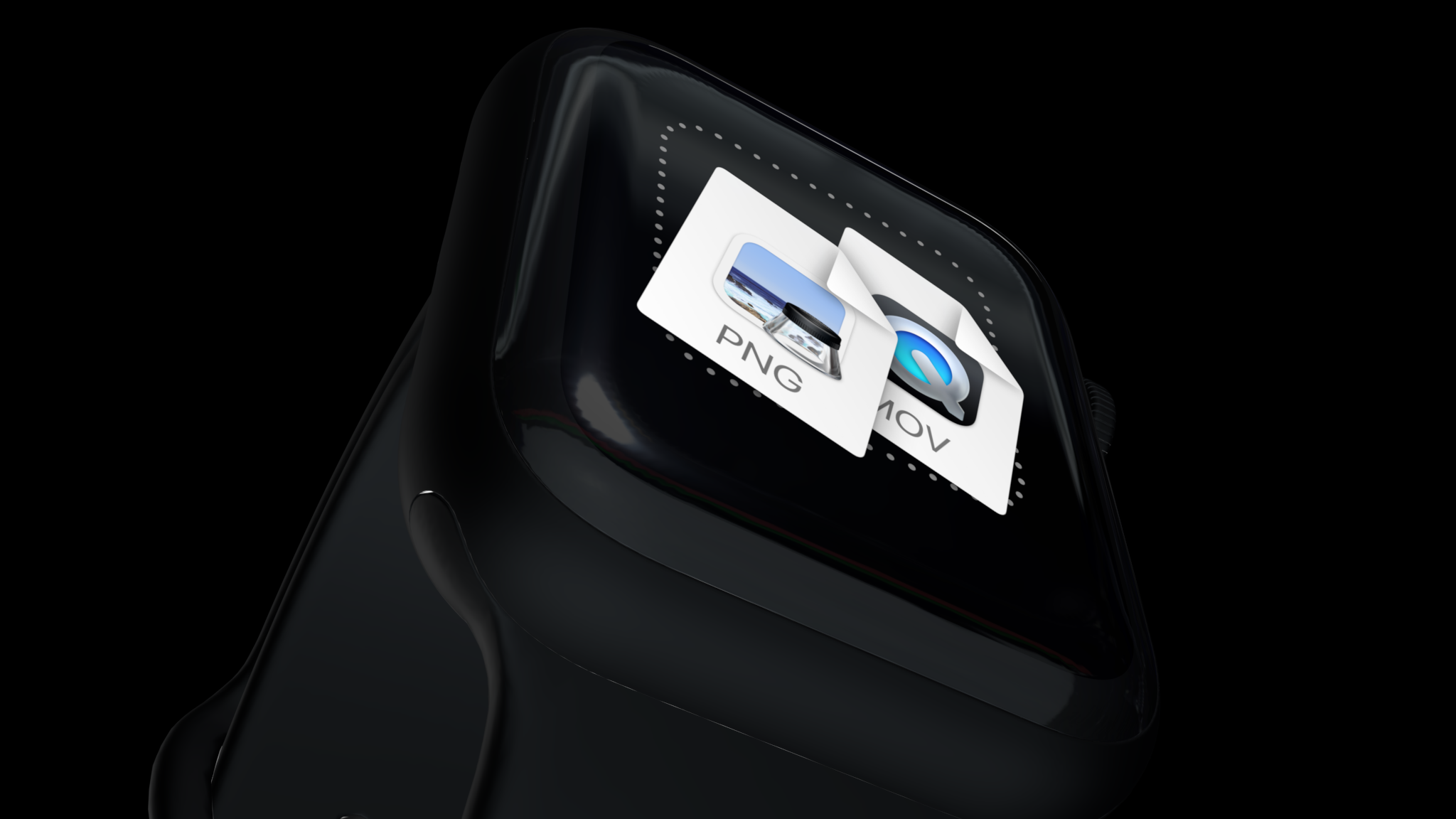 Apple watch mockup seen from below
