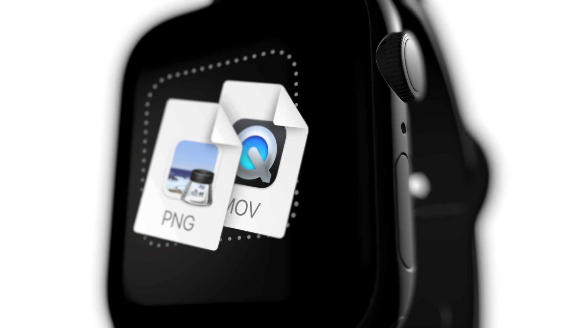 Apple watch mockup zoomed in
