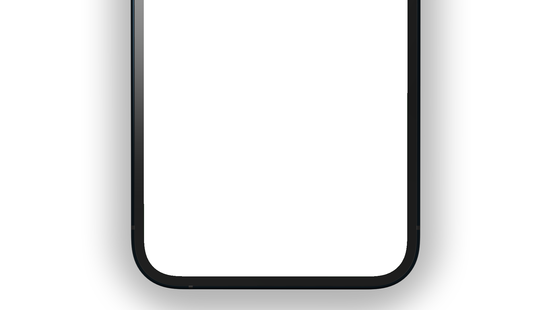 Bottom part of an iPhone 12 PNG