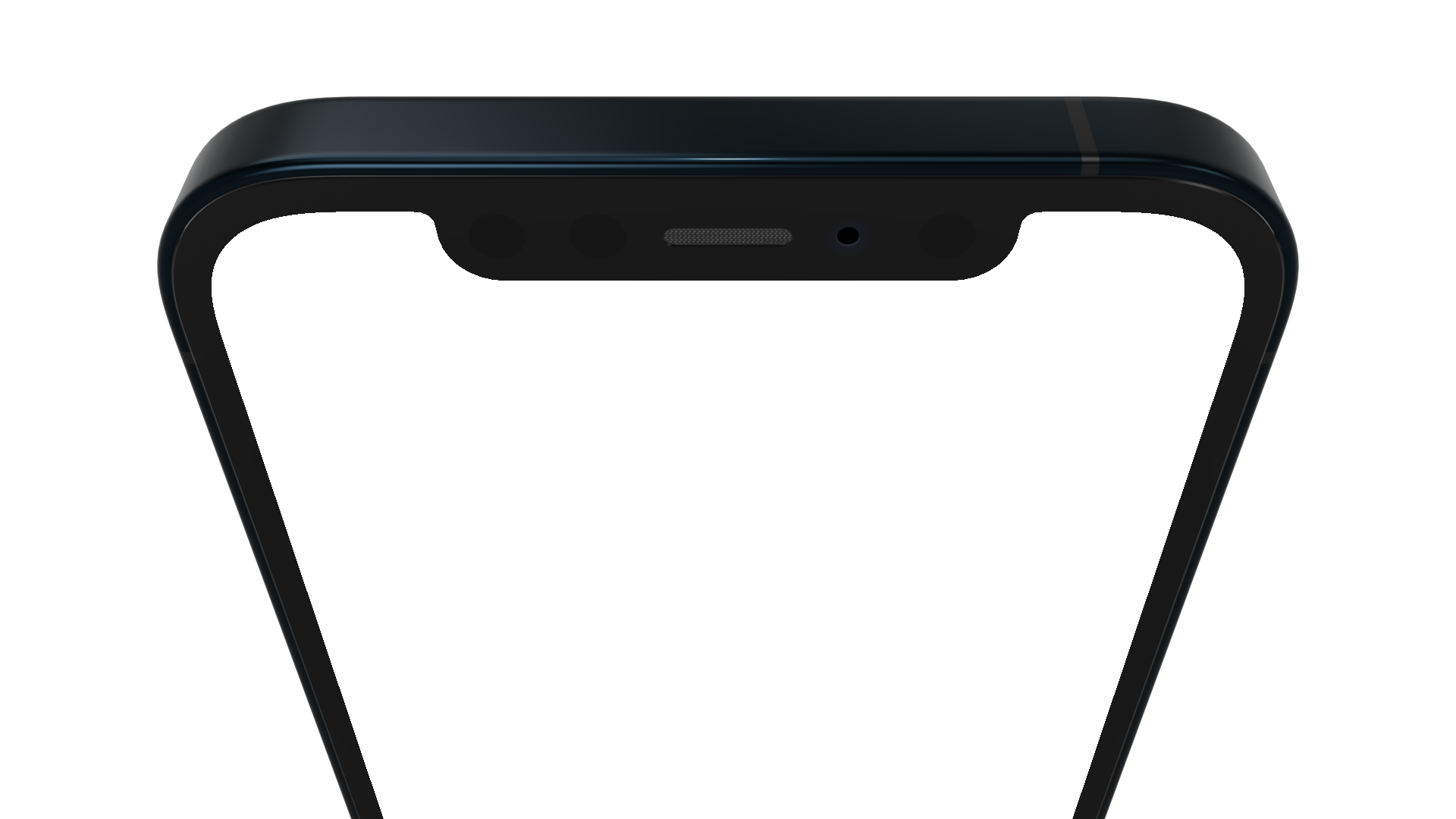 Top half part of an iPhone 12 PNG