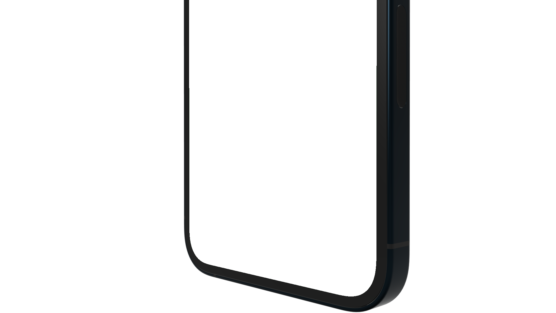 Bottom part rotated of an iPhone 12 PNG