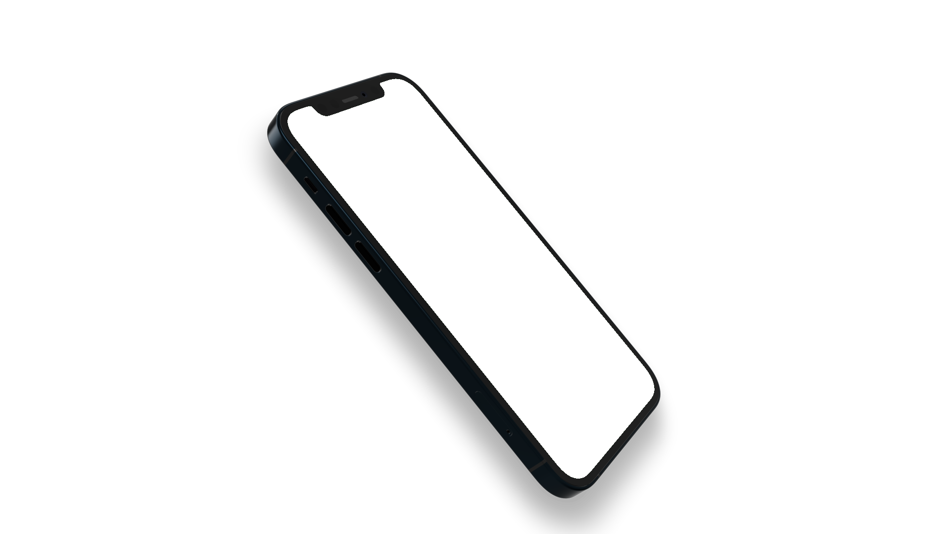 iPhone 12 PNG rotated seen from the side