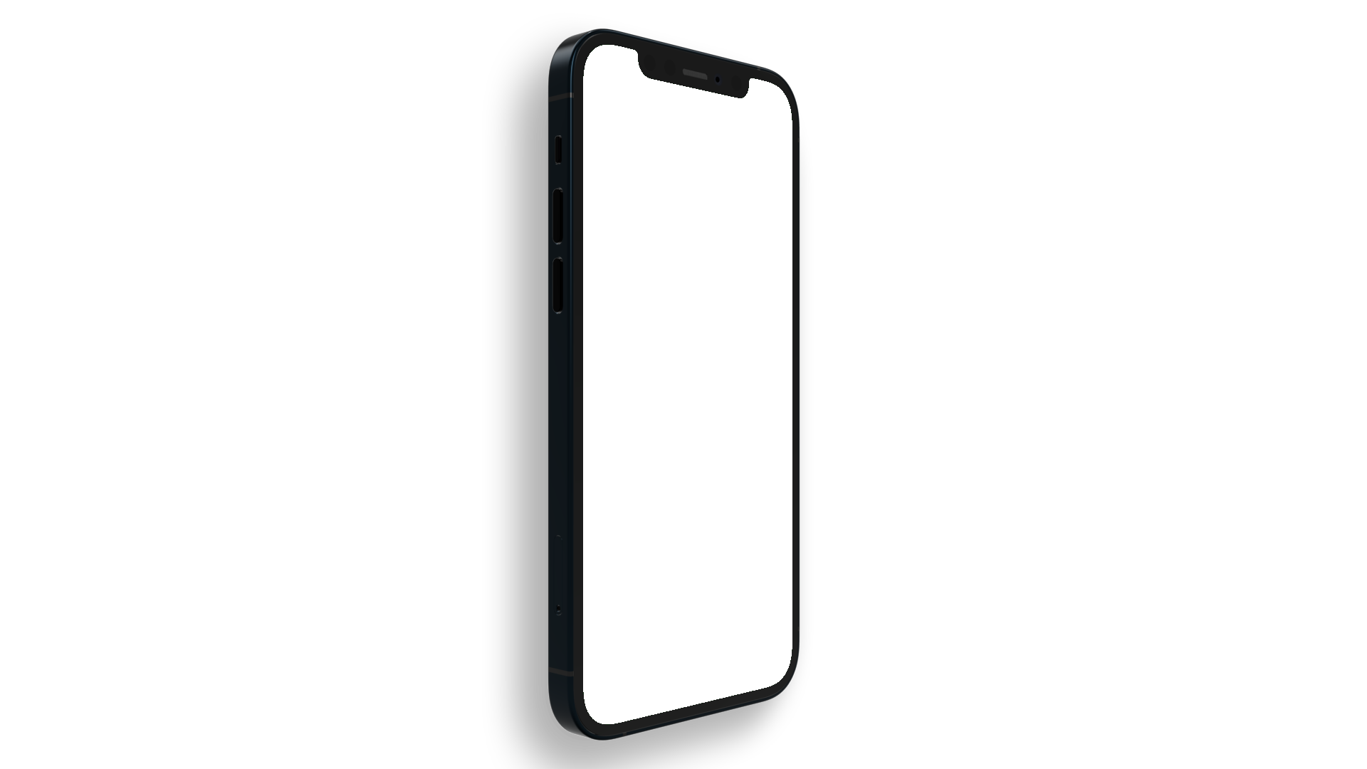 iPhone PNG seen from the side, upright position