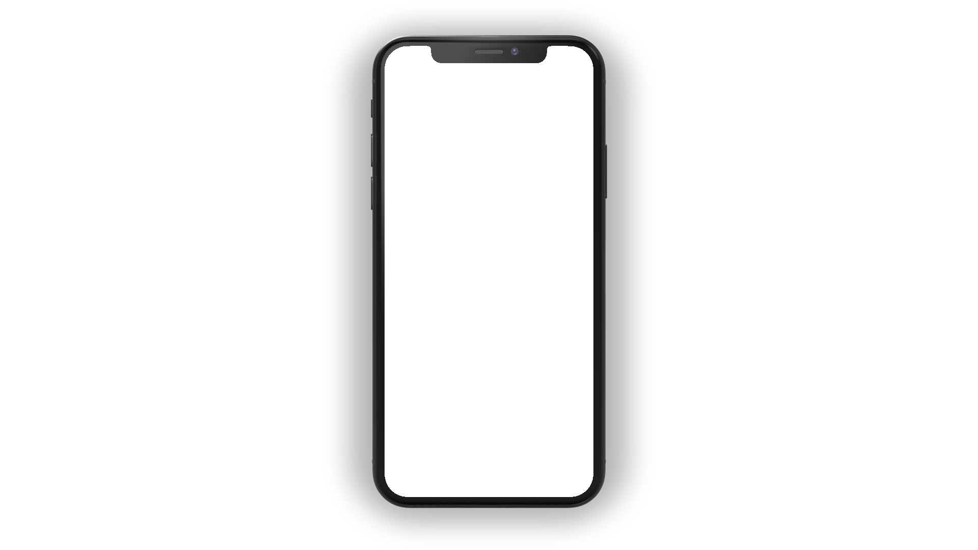 iPhone X PNG top view