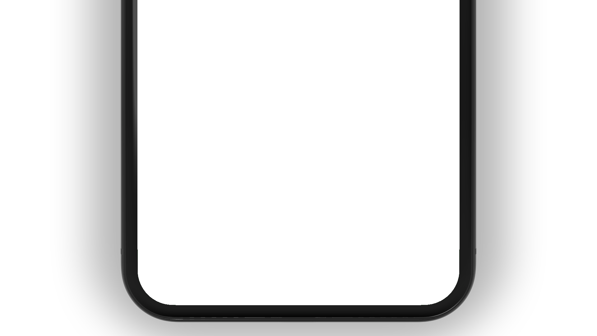 iPhone PNG bottom view