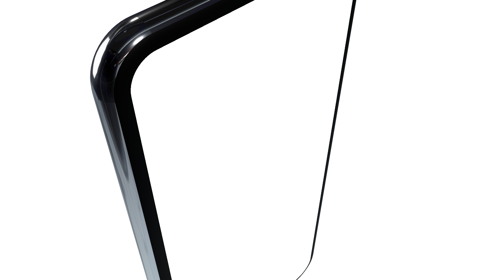 Generic phone seen rotated from the side