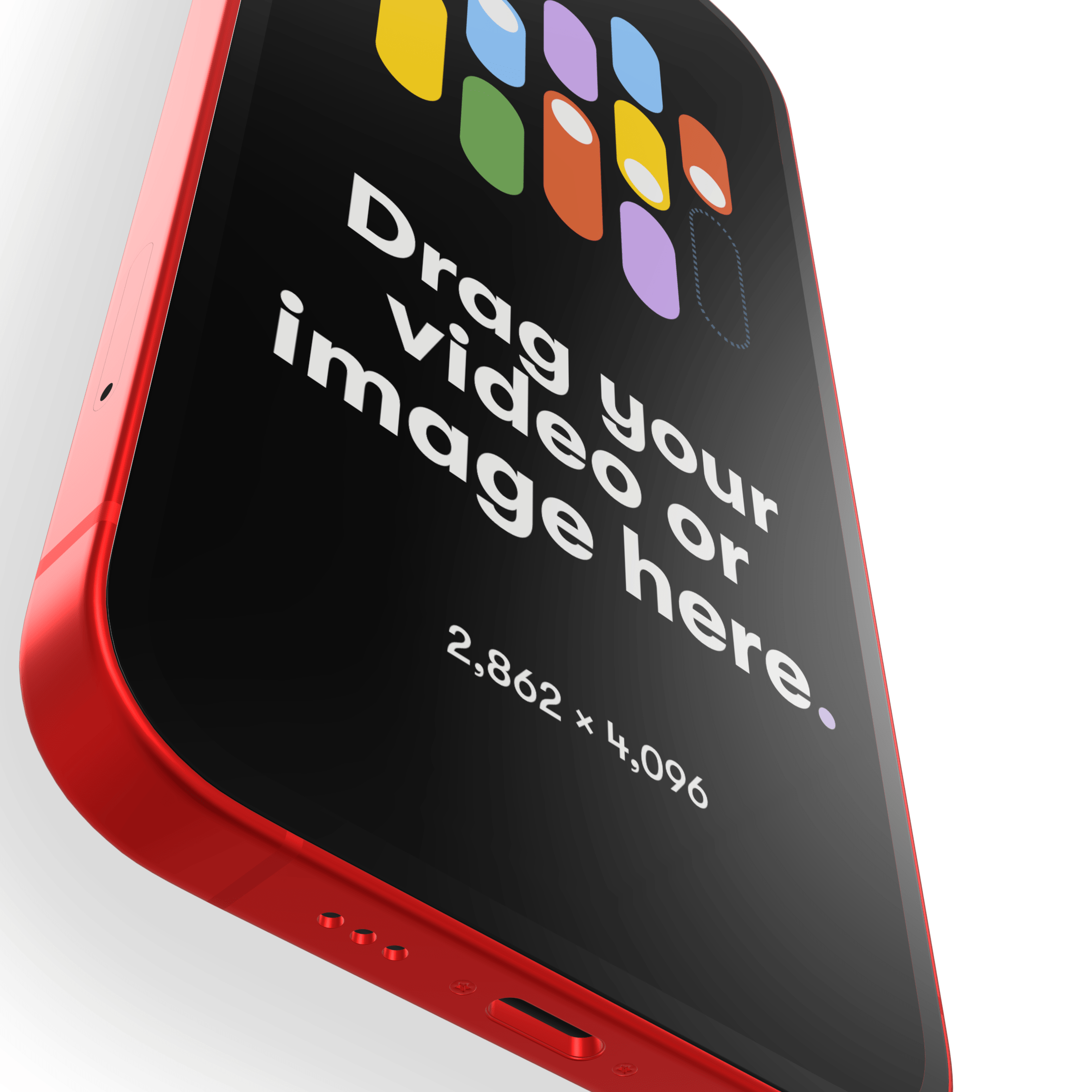 iPhone 12 Red Mockup