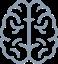 Gray icon of a brain.