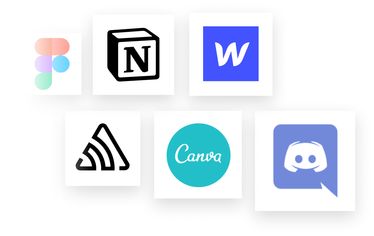 Logos for companies that are hiring like Webflow, Discord, and more.