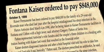 Fontana Kaiser ordered to pay $848,000