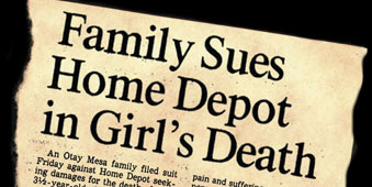 Family Sues Home Depot in Girl's Death